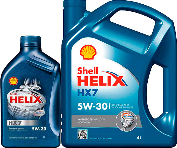 Моторное Масло Shell 5W30 Hx7