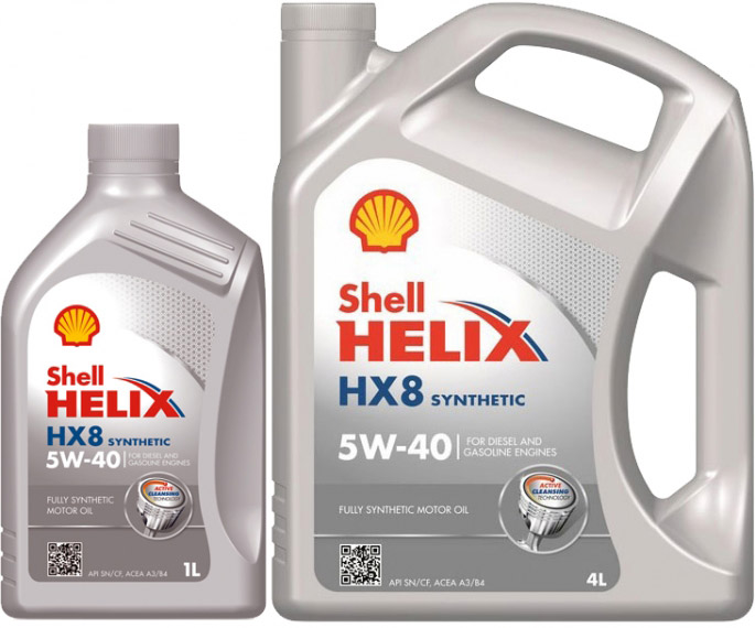 Моторное масло Shell Helix HX8 Synthetic 5W-40